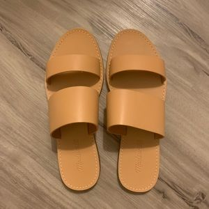 New Madewell Boardwalk sandals shoes slides  8 1/2